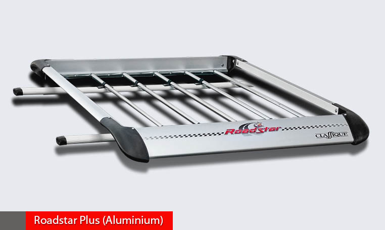 Roadstar Aluminium+steel aerodynamic luggage carrier, light weight.