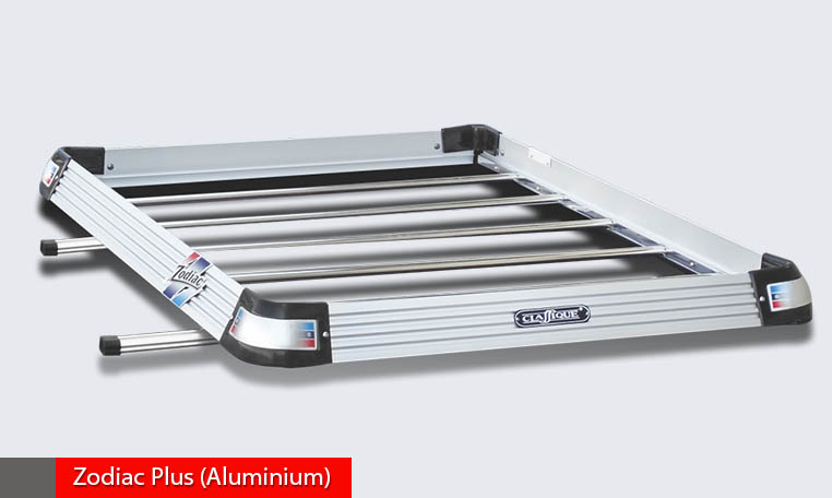 Zodiac Plus Aluminium+steel luggage carrier, light weight and weight loading capacity 65 kgs.