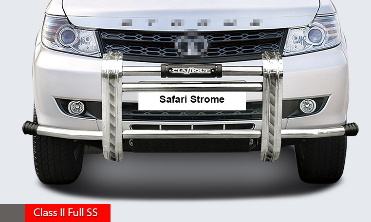 High grade S.S front guard with sturdy and innovative design, with corners.
